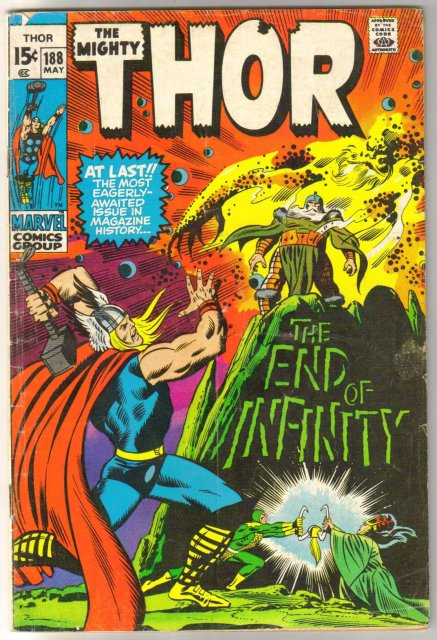 The Migfhty Thor #188 comic book very good  4.0