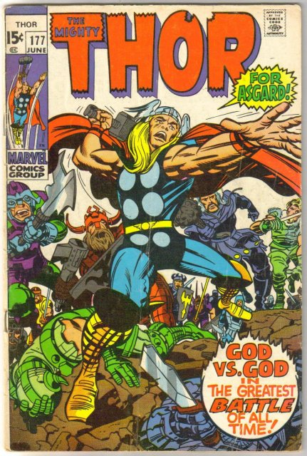 The Migfhty Thor #177 comic book very good/fine 5.0