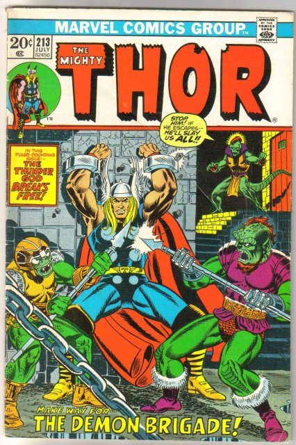 The Migfhty Thor #213 comic book very good/fine 5.0