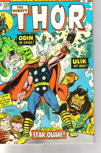 The Mighty Thor #239 comic book very fine/near mint 9.0