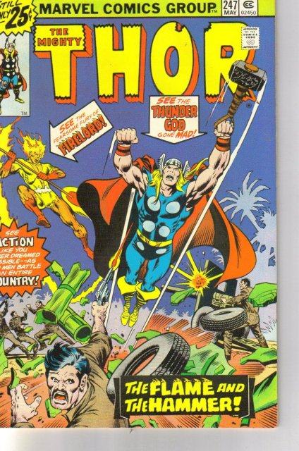 The Mighty Thor #247 comic book very fine/near mint 9.0