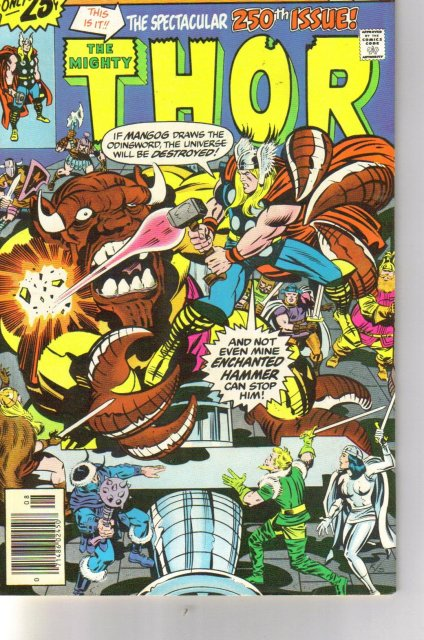 The Mighty Thor #250 comic book very fine/near mint 9.0