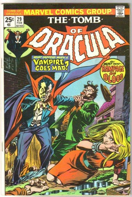 The Tomb of Dracula #29 comic book fine 6.0