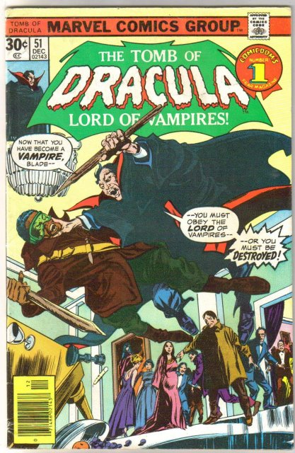 The Tomb of Dracula #51 comic book fine 6.0
