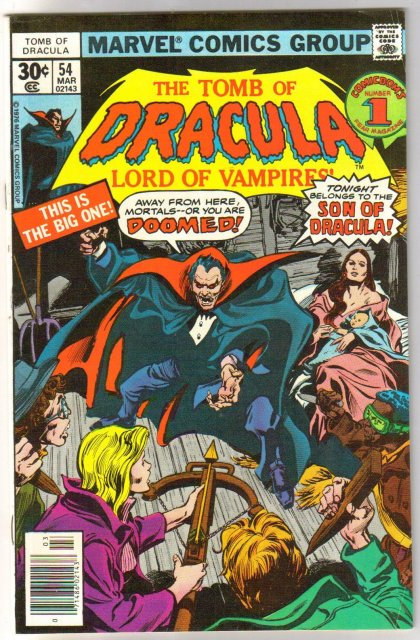 The Tomb of Dracula #54 comic book fine 6.0