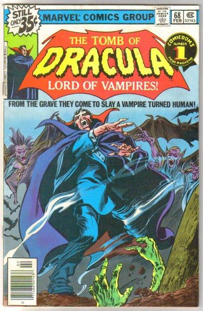 The Tomb of Dracula #68 comic book fine 6.0