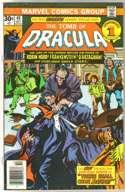 The Tomb of Dracula #49 comic book fine/very fine 7.0