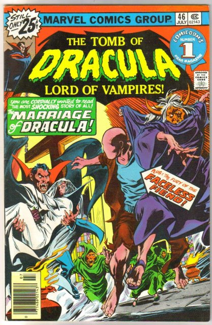 The Tomb of Dracula #46 comic book very fine 8.0