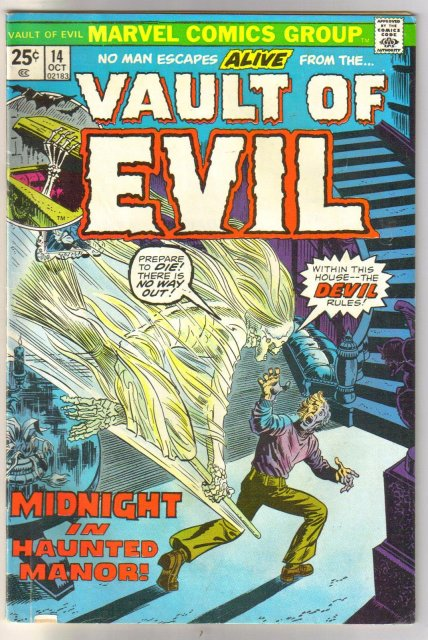Vault of Evil #14 comic book fine 6.0