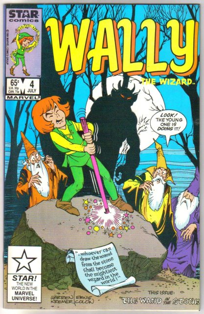 Wally The Wizard #4 comic book  mint 9.8