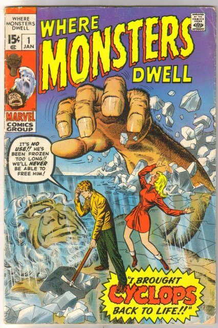 Where Monsters Dwell #1 comic book very good 4.0