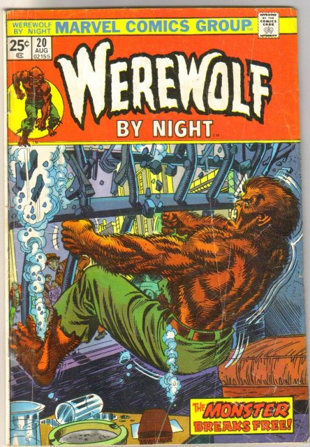 Werewolf By Night #20 comic book very good 4.0