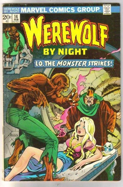 Werewolf by Night #14 comic book very good/fine 5.0