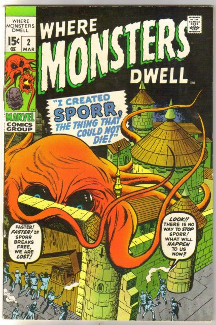 Where Monsters Dwell #2 comic book fine 6.0