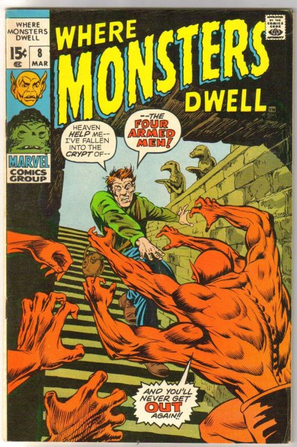 Where Monsters Dwell #8 comic book fine/very fine 7.0