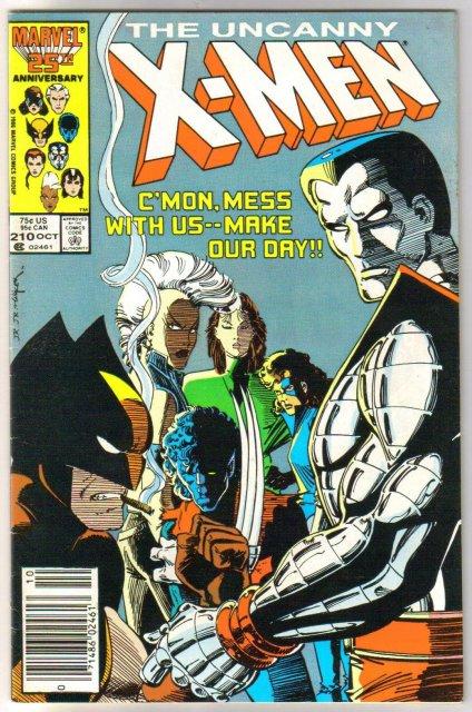 Uncanny X-Men #210 comic book very fine 8.0