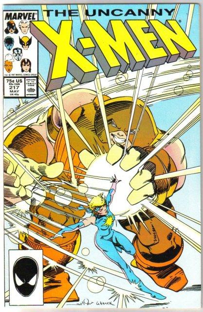 Uncanny X-Men #217 comic book very fine/near mint 9.0