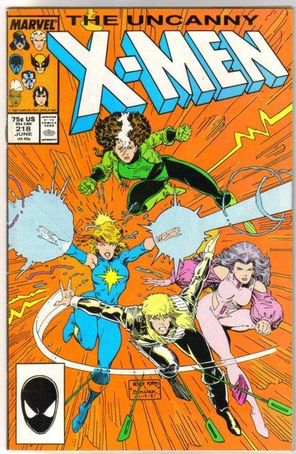 Uncanny X-Men #218 comic book very fine/near mint 9.0