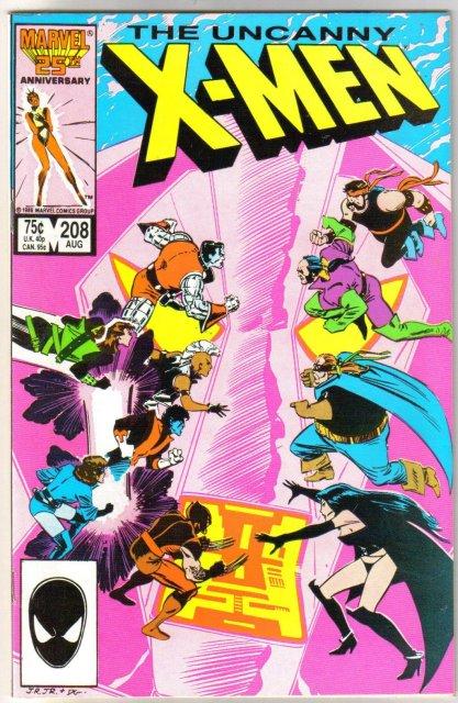 Uncanny X-Men #208 comic book near mint 9.4