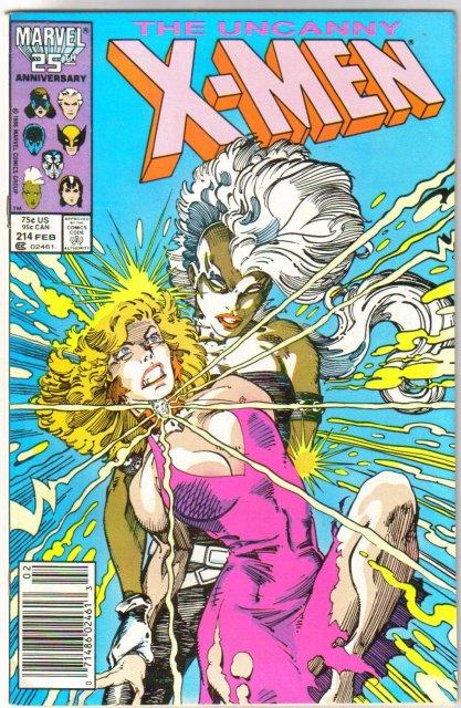 Uncanny X-Men #214 comic book near mint 9.4
