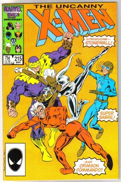 Uncanny X-Men #215 comic book near mint 9.4