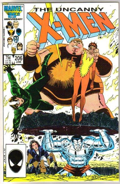 Uncanny X-Men #206 comic book mint 9.8