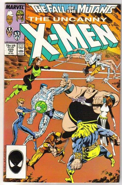 The Uncanny X-Men #225 comic book very fine/near mint 9.0