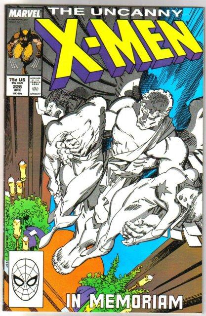 The Uncanny X-Men #228 comic book very fine/near mint 9.0