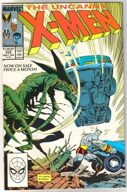 The Uncanny X-Men #233 comic book very fine/near mint 9.0