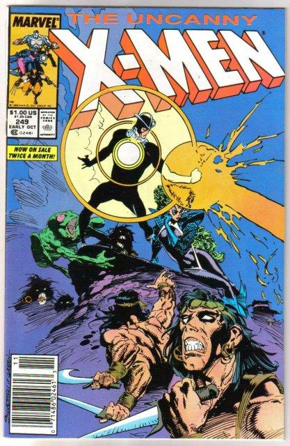 The Uncanny X-Men #249 comic book very fine/near mint 9.0