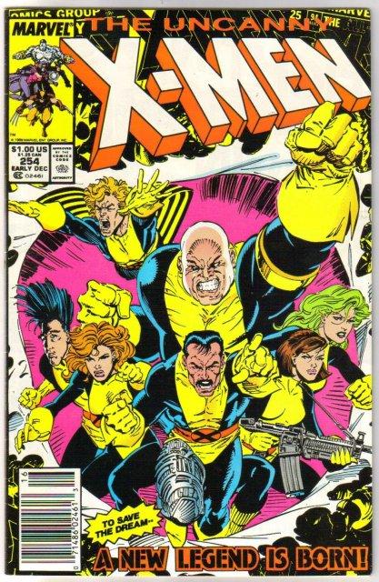 The Uncanny X-Men #254 comic book very fine/near mint 9.0