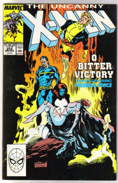 The Uncanny X-Men #255 comic book very fine/near mint 9.0