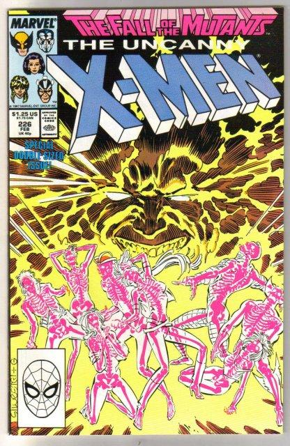 The Uncanny X-Men #226 comic book near mint 9.4