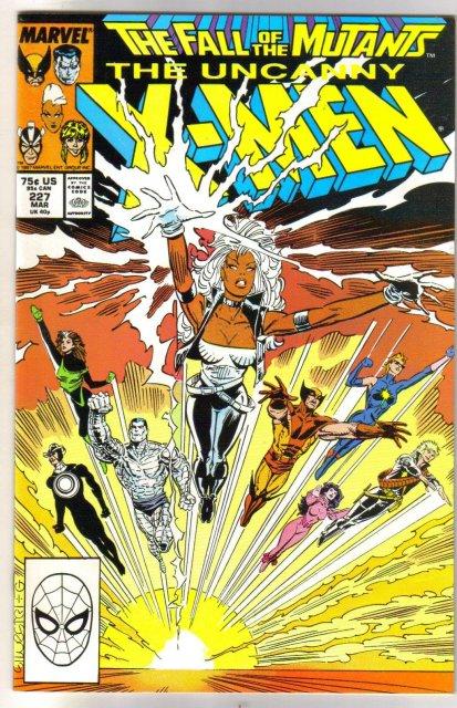 The Uncanny X-Men #227 comic book near mint 9.4