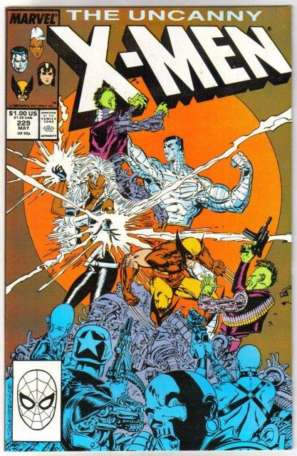 The Uncanny X-Men #229 comic book near mint 9.4