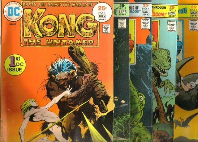 Kong the Untamed complete vintage set of 5 comic books