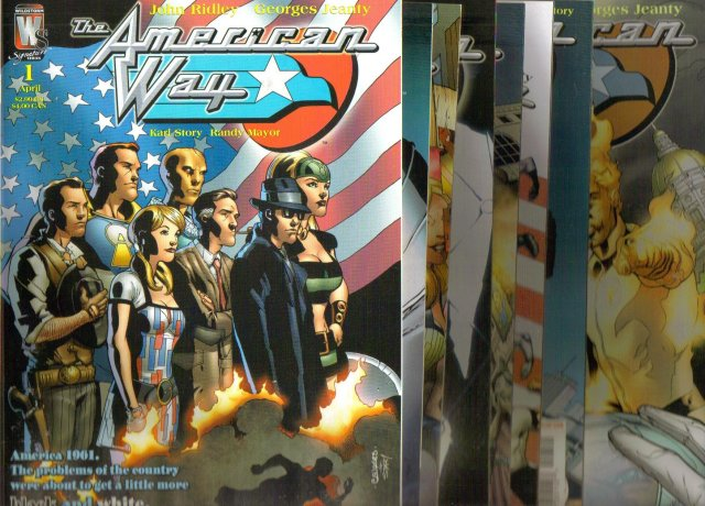 The American Way complete vintage set of 8 comic books