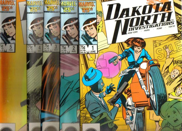 Dakota North Investigations complete vintage set of 5 comic books