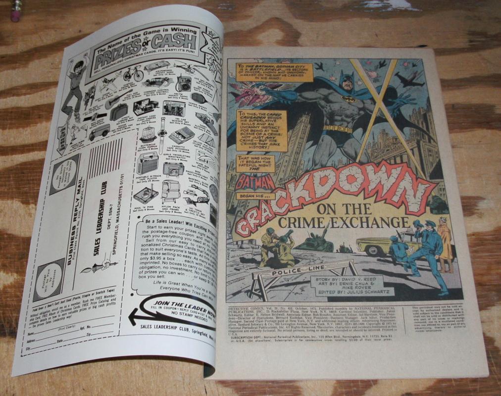 Batman's Detective Comics #452 comic book very fine 8.0