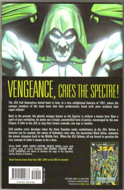 JSA Black Vengeance trade paperback brand new mint