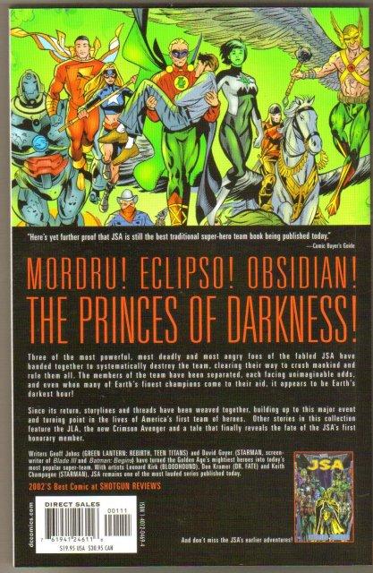 JSA Princes of Darkness trade paperback brand new mint