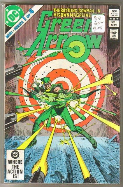 Green Arrow 1983 mini-series set of 4 comic books