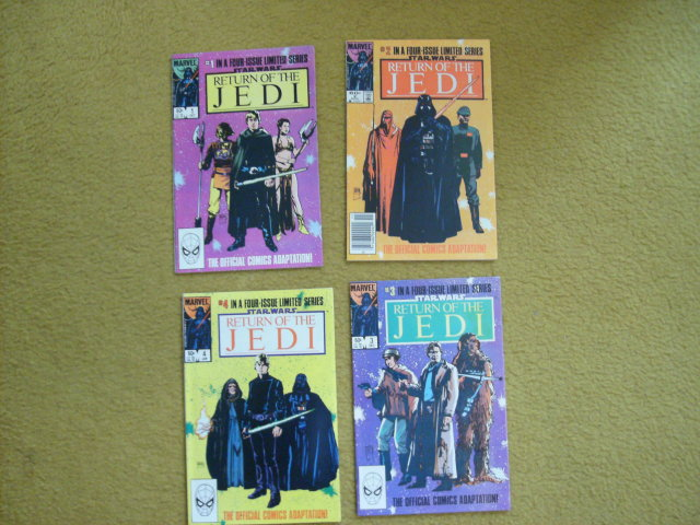Star Wars Return of the Jedi 1983 4 issue mini-series near mint comic books