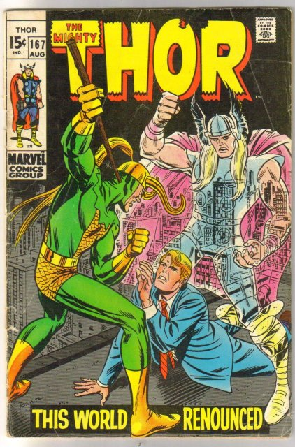 The Mighty Thor #167 comic book very good 4.0
