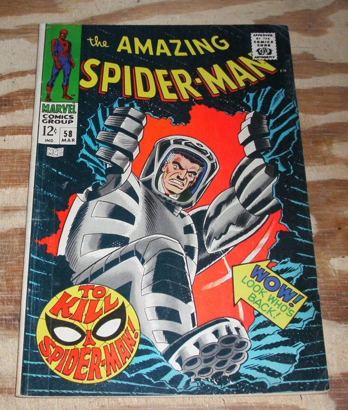 Amazing Spider-man #58  comic book very good/fine 5.0