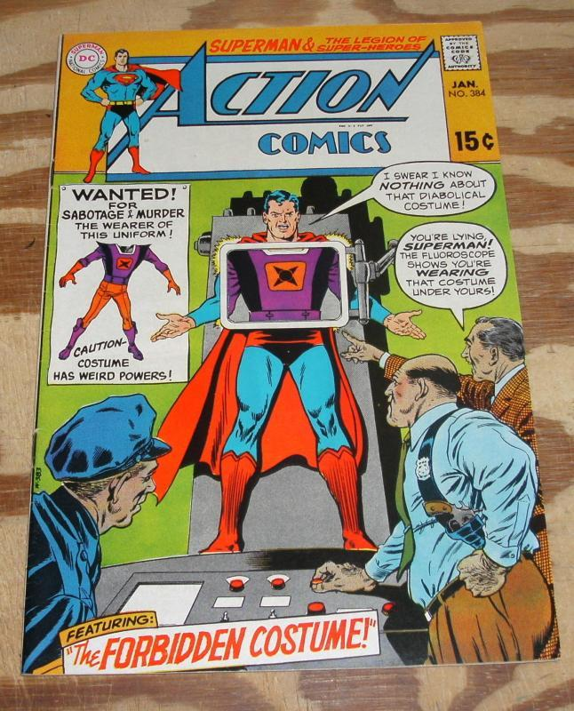 Action Comics Featuring Superman and Legion of Super-heroes #384 vf 8.0