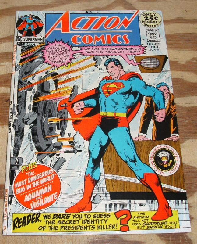 Action Comics Featuring Superman #405 comic book very fine/near mint 9.0