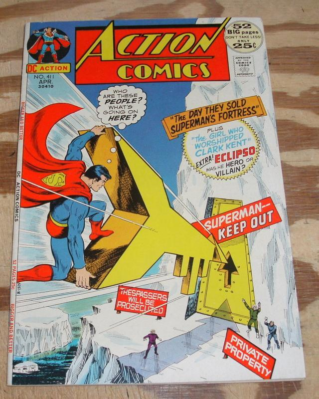 Action Comics Featuring Superman #411 very fine 8.0