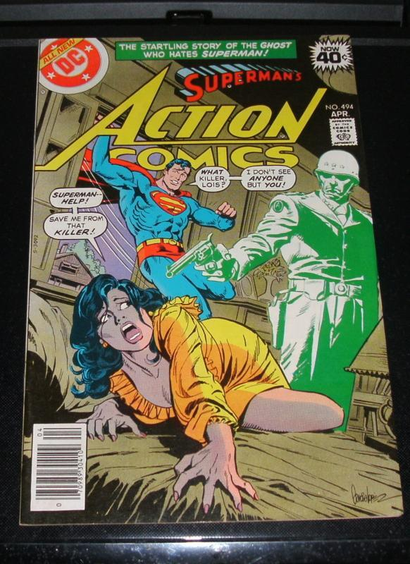 Superman Starring in Action Comics #494 near mint plus 9.6