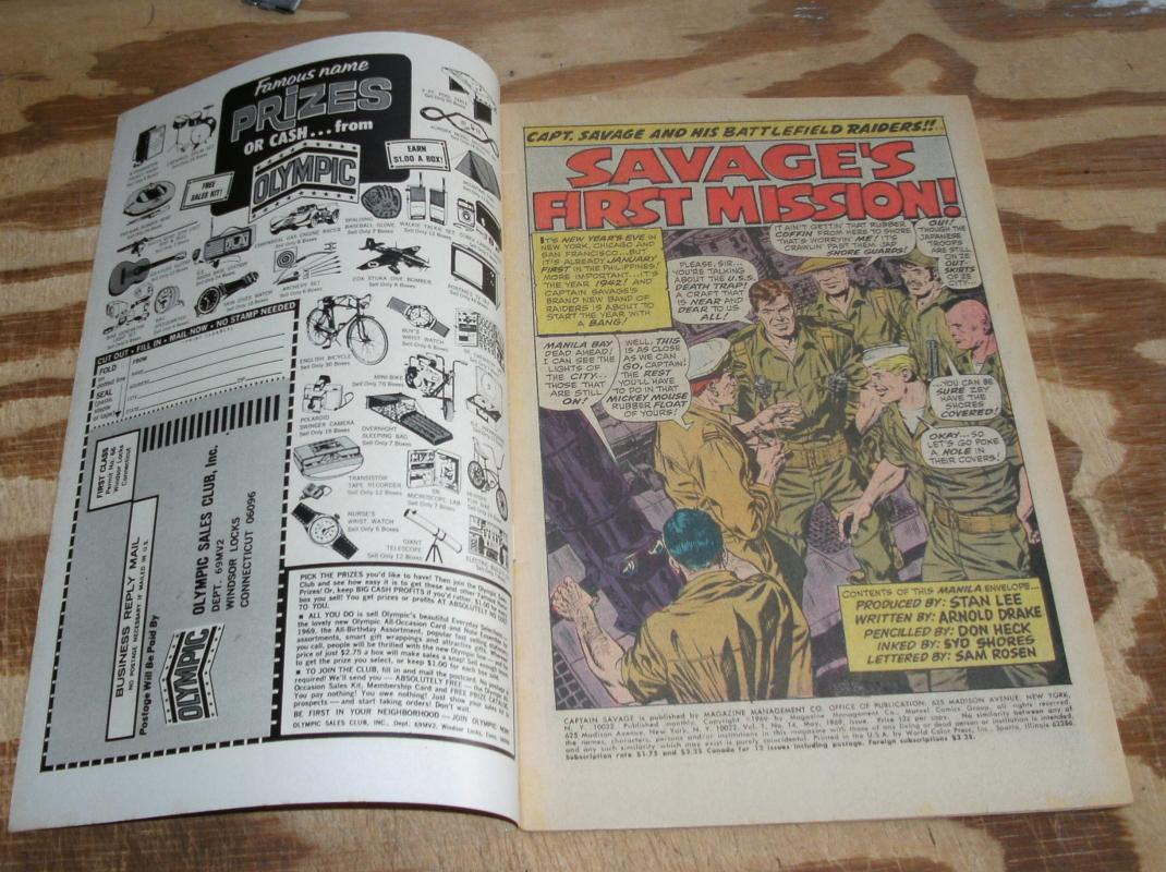Captain Savage #14 comic book very fine/near mint 9.0